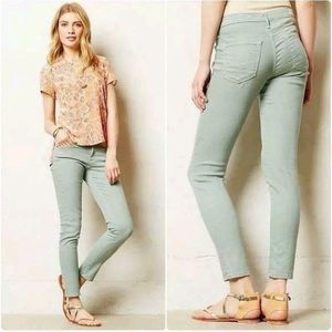 AG Stevie Ankle Jeans- 27R Mint Green Slim Pants